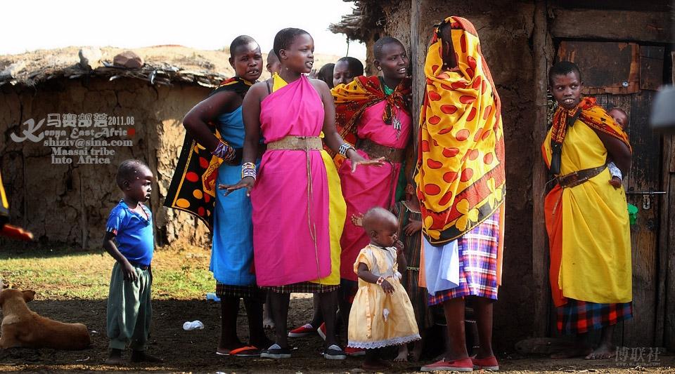 走进非洲 马赛部落图片