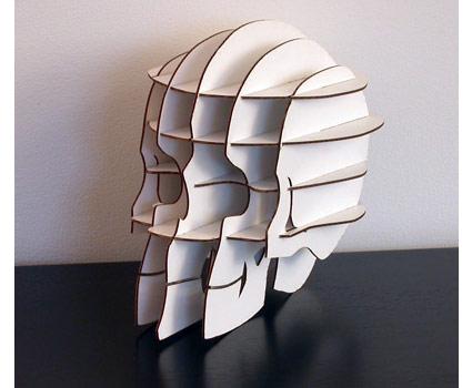 小编第一次看到这个创意骷髅纸板文具架的时候,脑子里不知道为什么
