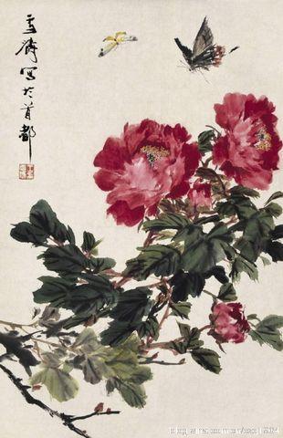 花鸟画大师王雪涛国画牡丹欣赏