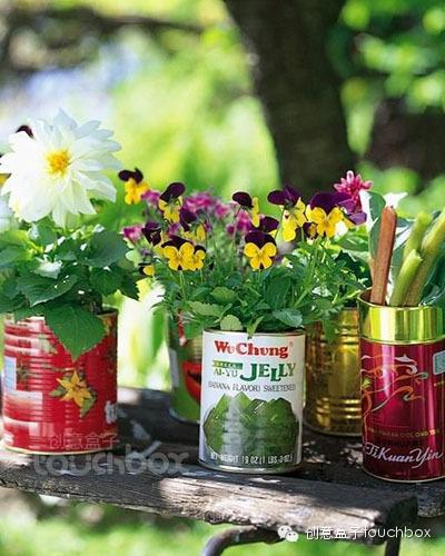 还有什么不能被创意——美好春日里的小花盆图片