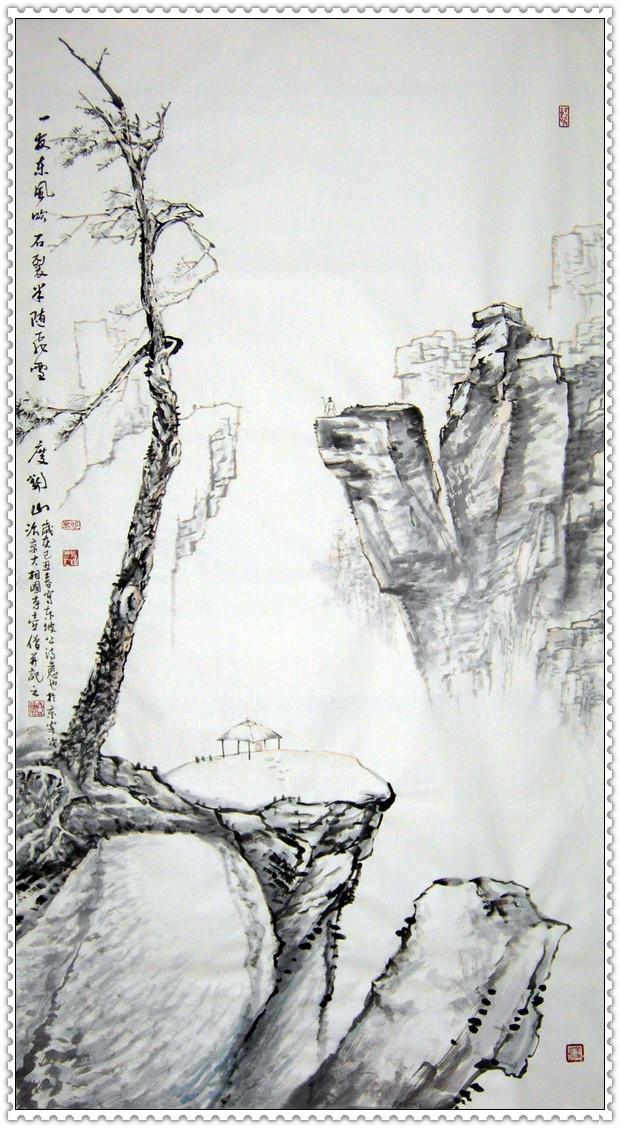 作品入选大型国家传媒史册《永载中华》;出版有《写意山水技巧》图片