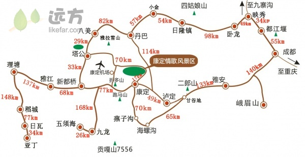 四川甘孜州康定情歌(木格措)风景区旅游景点介绍(附图