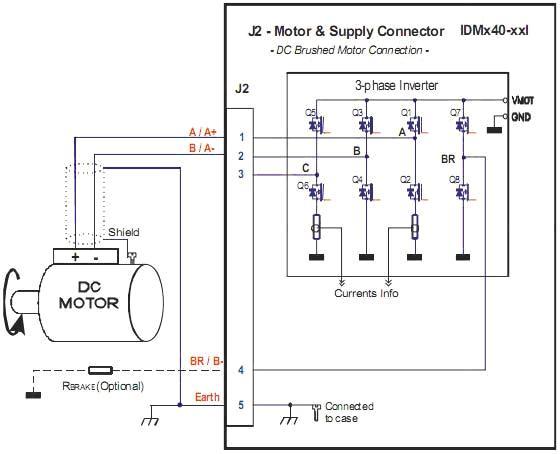 2.4 步进电机的接线图