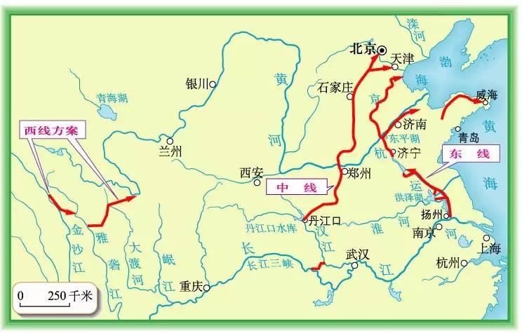 东线可每年向江苏,安徽,山东,河北以及天津市输水148亿立方米.图片