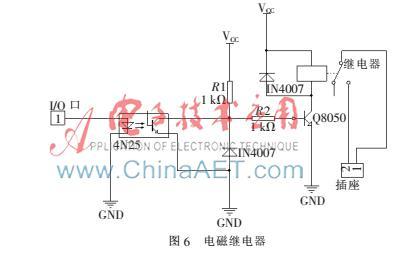 由于单片机控制电流不足以驱动电磁阀工作,因此在电路中通过电磁图片
