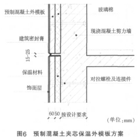 墙板内侧以混凝土板作为承重结构层,厚度可根据结构设计要求来确定