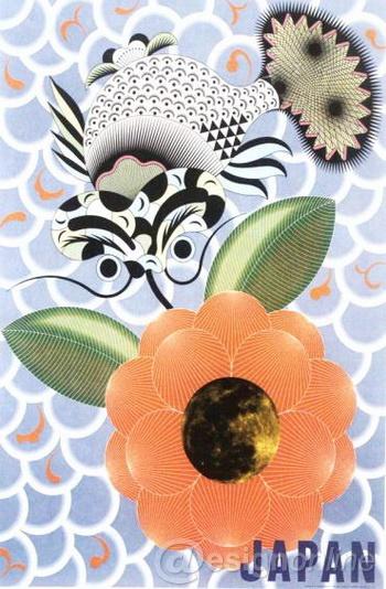 《日本招贴的今天:苏黎世》(见图9)中,是以移花接木的图形创意手法图片