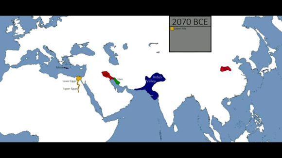 国外制作的全球历史地图,跳出中国放眼世界图片