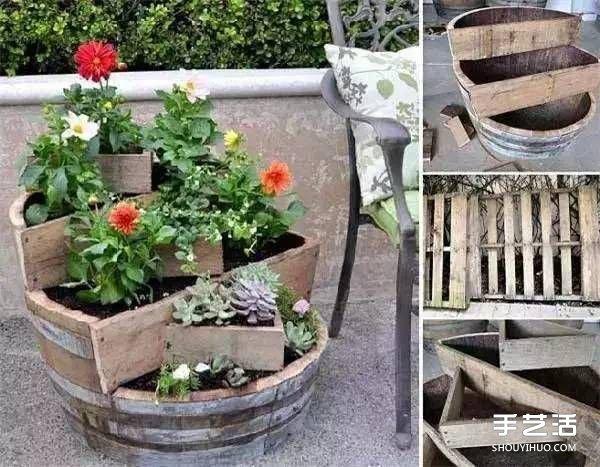废旧物品手工diy制作花盆的创意大全