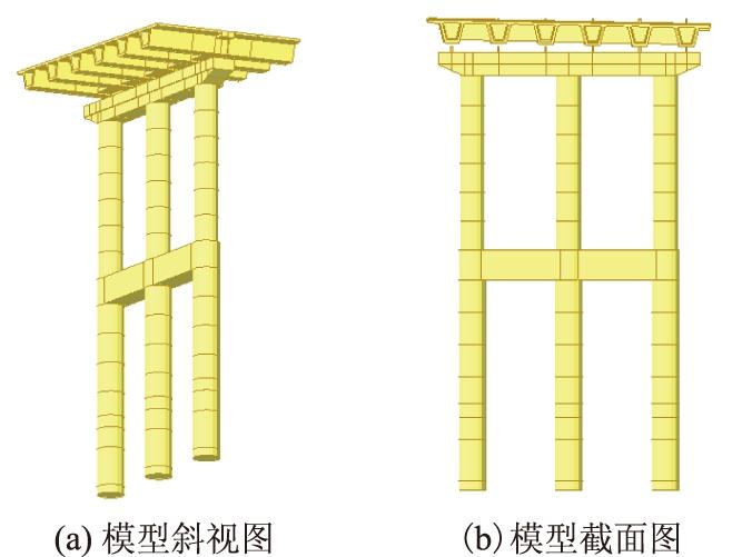 桥梁结构模型局部
