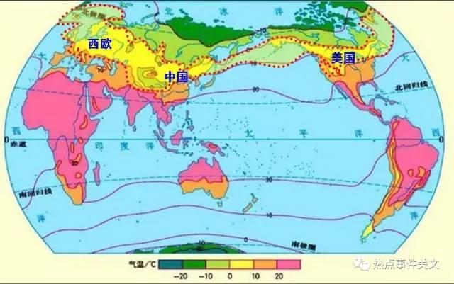 从世界人口分布密度图,可以很明显的看出来:人口分布是非常有特