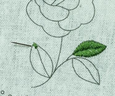 刺绣针法 叶子的刺绣教程,文档教程,素材免费下载图片