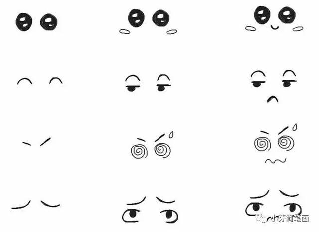超简单的表情简笔画,萌萌哒(内附教程)图片