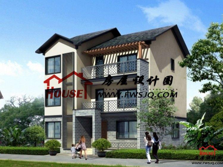 豪华农村9.8x12.5三层别墅建筑设计图