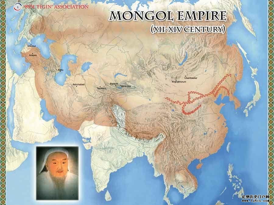 1206年,铁木真统一蒙古各部,在斡难河(今鄂嫩河)源头召开大会,即蒙古