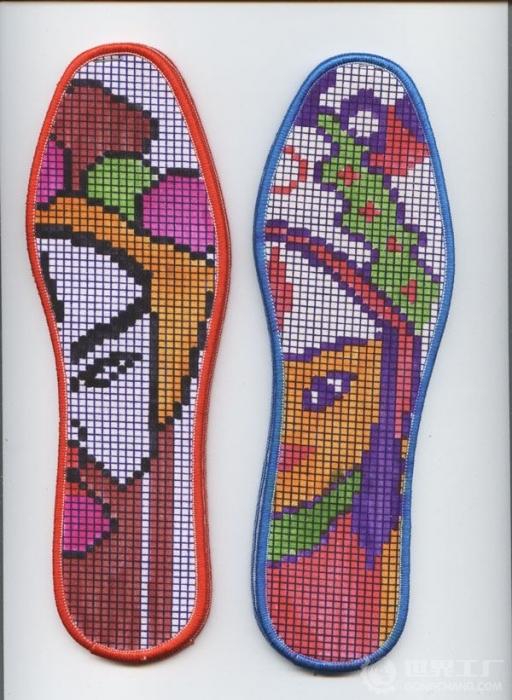 分享十字绣鞋垫花样图案(附鞋垫图纸)