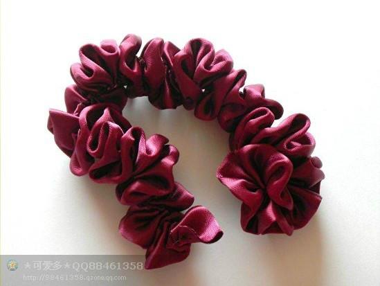 创意手工 教你3种丝带花做法